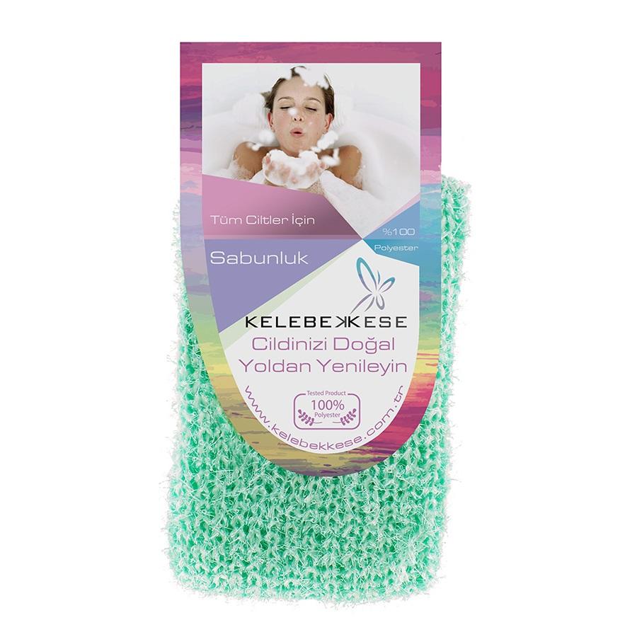 Мочалка для намыливания и создания пены, светло зеленая