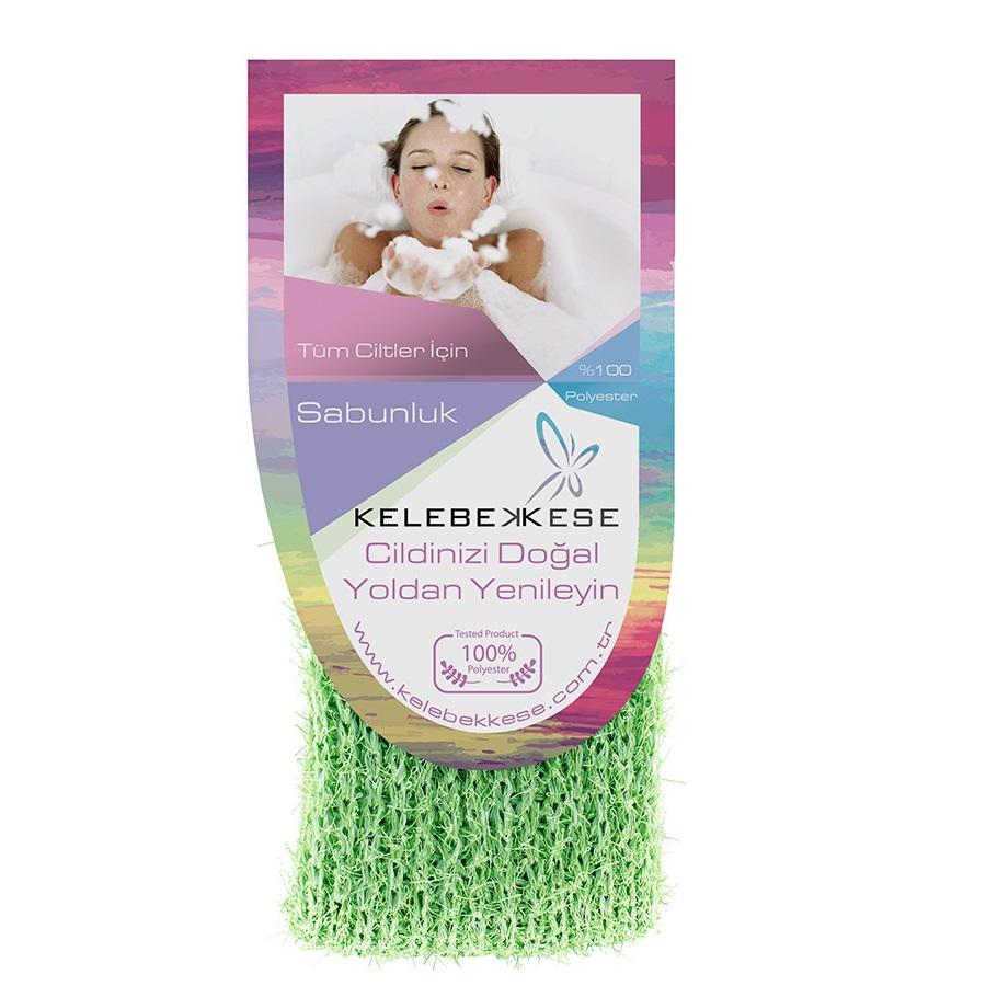 Мочалка для намыливания и создания пены, зеленая